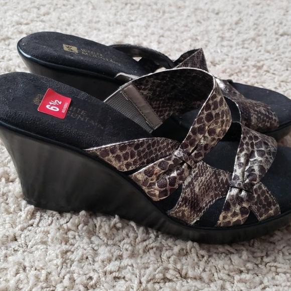 White Mountain Wedge Sandals 65